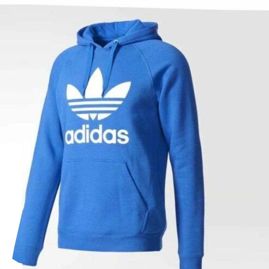 Adidas Originals Royal Blue Trefoil Fleece Hoodie